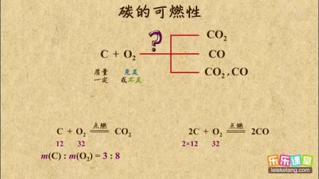 初中化学九年级上册 碳与氧气的反应