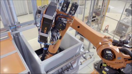 走进奥迪制造工厂,全部都是现代工业机器人,场面很壮观