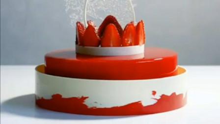 草莓蛋糕,粉嫩少女心