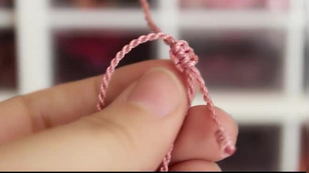 招桃花滴粉水晶石榴石手绳, 漂亮的樱花粉和古典的中国红!