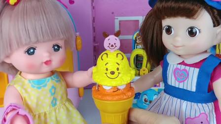 芭比娃娃的欢乐冰淇淋店玩具