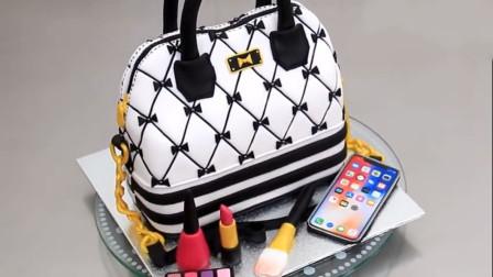 外国烘焙牛人做的手提包翻糖蛋糕,让你舍不得吃!