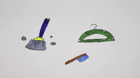 小扬简笔画教程:做手帐的时候会用到的简单图案,教你画日常生活中能见的物品
