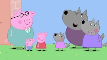 猪爸爸想造一个房子,佩奇还专门在房子图纸上画了一个秋千