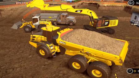 【永哥】挖掘机模拟建设P430 城市地下停车库建设完成