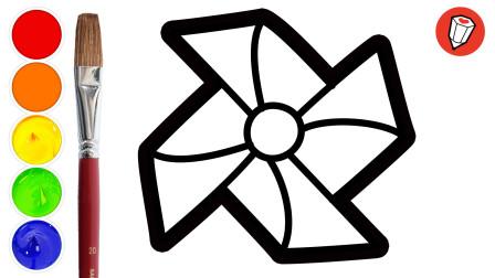 8种大风车的卡通简笔画法,做家庭作业不用愁了,快给宝宝收藏起来吧~