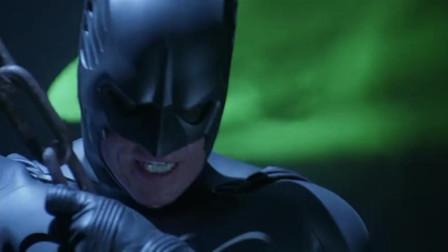 蝙蝠侠找到了爱德华,双面人也出现了,爱德华更是自称上帝