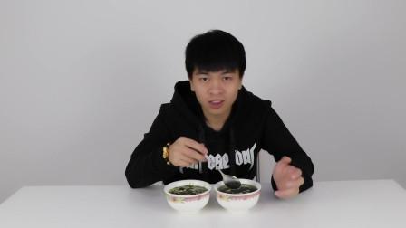 海苔和紫菜做的蛋汤有什么区别?小伙吃到怕,这辈子不敢再尝试了