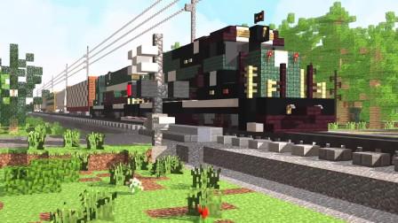 我的世界动画-货运火车-CraftyFoxe
