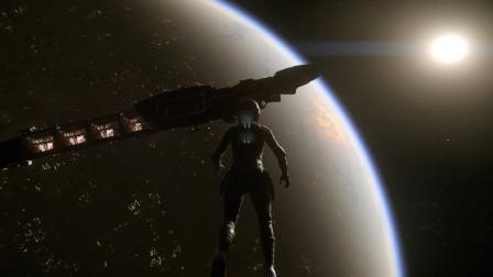 从太空中俯视弧光星夜景-星际公民