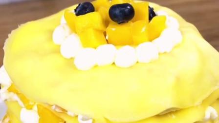 芒果千层蛋糕, 做法超级简单, 新手小白也可以
