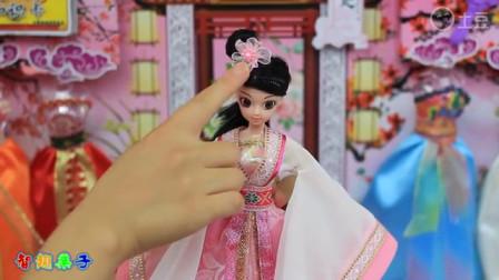 芭比娃娃换装玩具 穿越古代变身杨贵妃