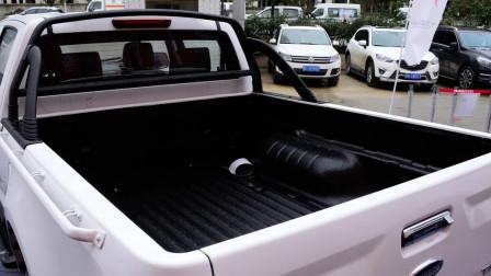 """自带""""龙门架"""",3.0T五十铃柴油皮卡,车身5.6米,9.88万带四驱"""