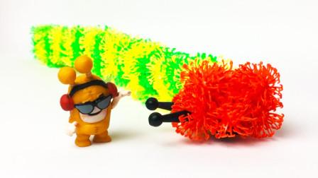 原创定格动画:好饿好饿的毛毛虫,与hiphop少年,太有趣了