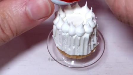 食玩,真实烹饪迷你樱桃芝士蛋糕,小小厨房的高颜值美食创意!