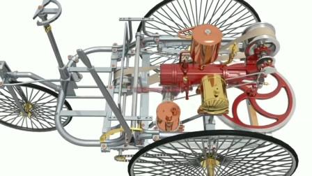 汽车诞生史第一台汽车结构构造