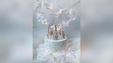 女王范儿or公主范儿 羽毛皇冠生日蛋糕