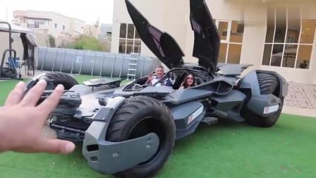 弟弟送给姐姐一辆3000万的蝙蝠车,上车的那一刻才是霸气的开始,国家欠我一个这样的弟弟