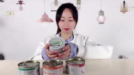 """妹子试吃""""国产鲱鱼罐头"""",国外的杀伤力太强,国产的怎么样?"""