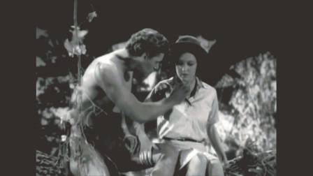 1932年版《人猿泰山》片段:泰山大战金钱豹!