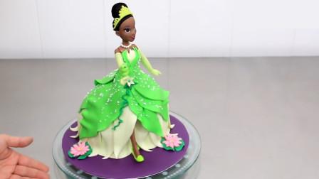 圆你粉嫩少女心的蒂安娜公主蛋糕来了!简单易学,周末在家试试吧