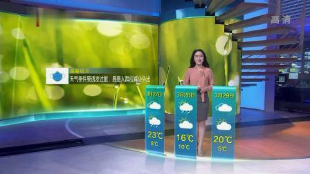 江苏天气预报20190326 江苏时空气象站 20190326 高清版