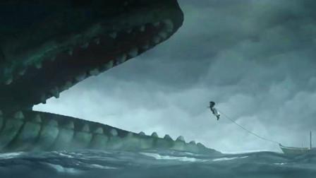女人为了从大鲨鱼肚子里救出女儿,甘愿被鲨鱼吃掉,跳入了鲨鱼口中