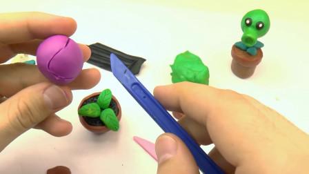 粘土软陶DIY:手工制作《植物大战僵尸》中的食人花