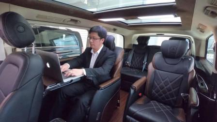 上海车展首发?19款奔驰V级定制版,实车抢先体验,座椅是亮点!