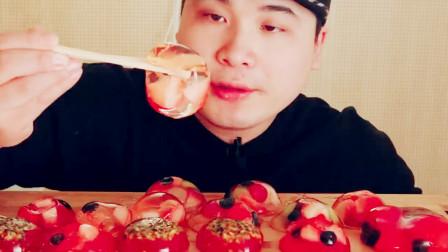 大胃王制作水果布丁,咀嚼声让人心情愉悦