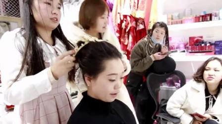 贵州农村妹儿,化妆出来变了一个人,挺漂亮的