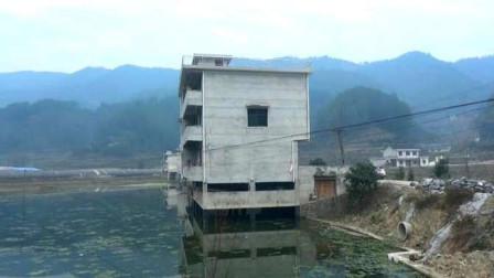 贵州农村小伙,在水田修三层楼房结婚,里面装修得挺好的