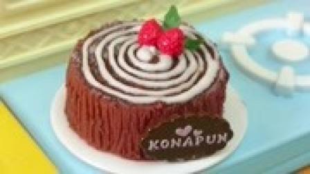 迷你食玩 草莓黑森林生日蛋糕