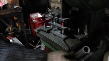 圆管切断冲床模具试模展示效果就是不变形,圆钢冲断下料
