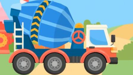 认识工程车水泥搅拌车罐车 驾驶水泥罐车施工作业