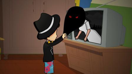 贞子失算了,深夜爬入男子的单身公寓,遇见托尼老师有点惨