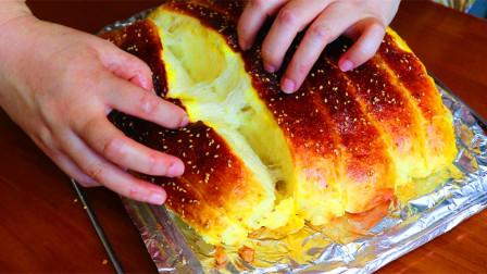 面包新做法,不用揉面,不用揉出膜,柔软拉丝超好吃,省时省力