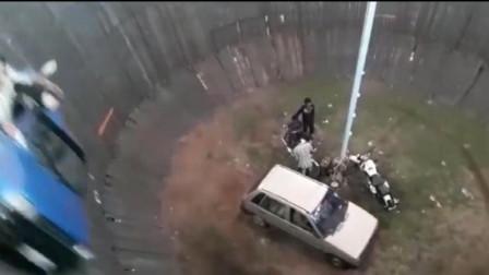 飞车走壁!现场版的生死时速