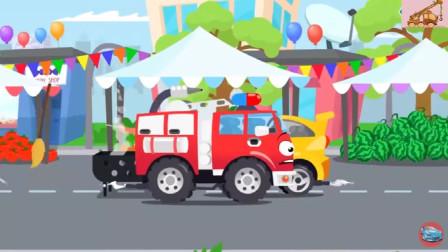 消防车要吃生日蛋糕,怎么还得跨栏比赛呢?游戏