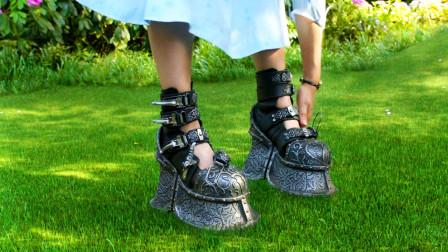 女孩身体里都是空气,必须穿铁鞋才能行走,不然就会飞上天!