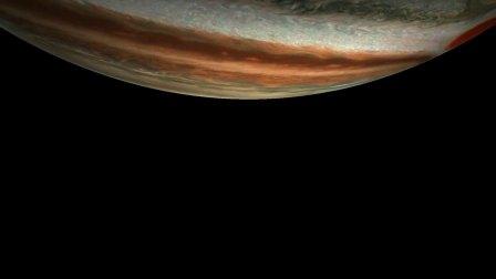 朱诺号木星探测器的第17次木星飞越拍摄的木星之美