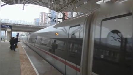 广深港高铁复兴号!G6114 香港西九龙—长沙南,深圳北站进站