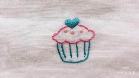 一起刺绣吧,绣个杯子蛋糕,看起来很好吃的样子,做法简单!