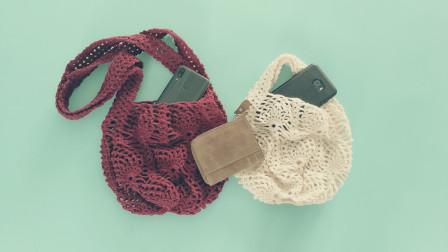 第二集手工钩针编织菠萝花花样文艺包包编织教程毛线编织教程钩法
