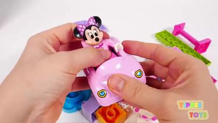 米老鼠玩具米妮玩具生日蛋糕