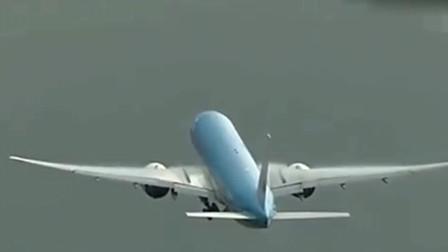 波音777飞机起飞之后,被闪电击中,真是太惊险了!