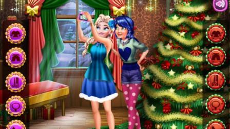 冰雪女王瓢虫雷迪的圣诞自拍!游戏