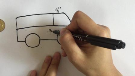 小鱼姐姐教你画救护车简笔画,非常容易,三分钟学会
