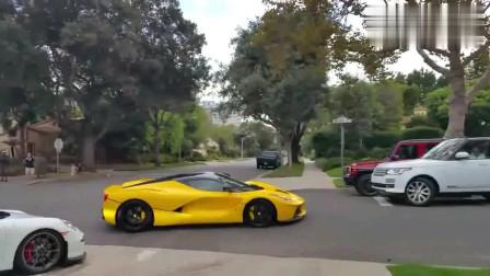全球限量版法拉利经过,旁边的跑车立马让路,这才叫真正的豪车!