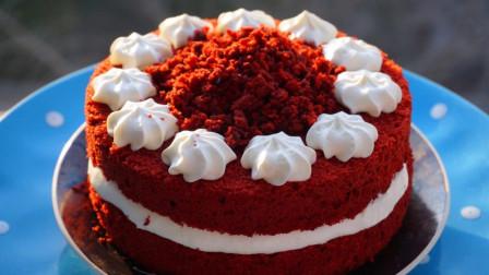 低脂版红丝绒蛋糕的做法,周末在家给她做个气质蛋糕吧!非常讨女人欢心